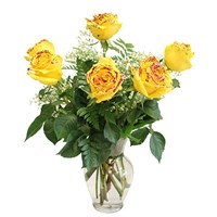 6-yellow-roses-with-purple-glitter-uni-colors-flowers